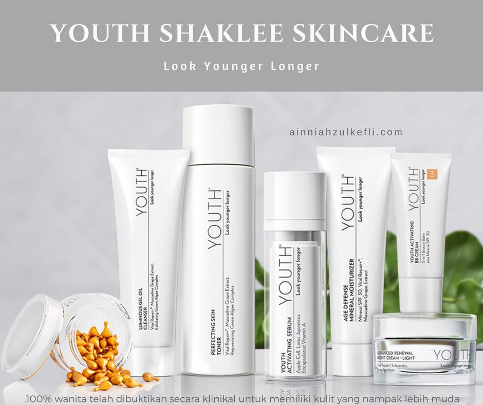 100% Lebih Muda Dengan Youth Shaklee Skincare