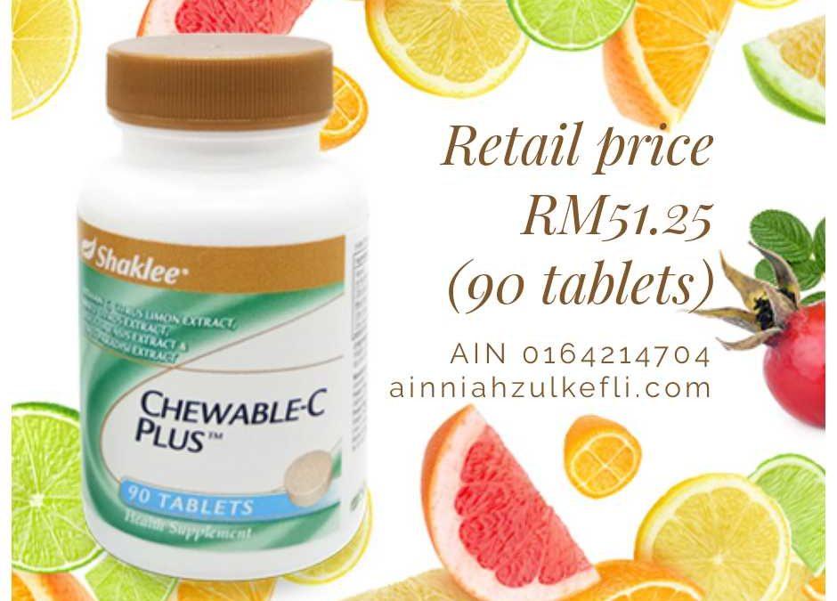 Chewable Vitamin C Shaklee Kini Kembali!