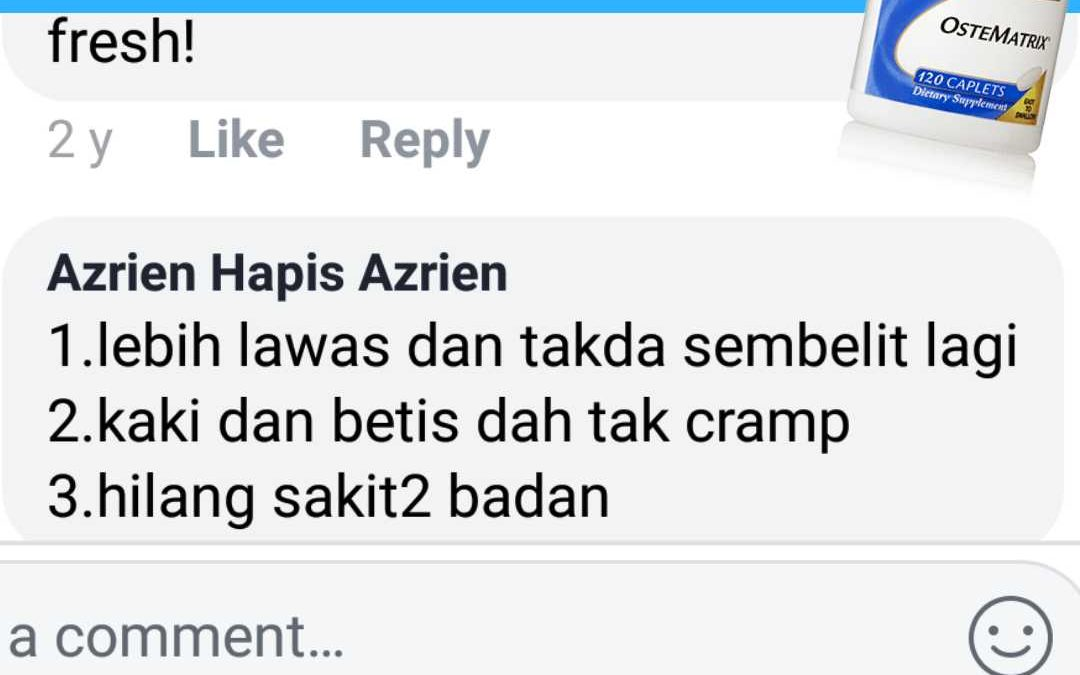Koleksi Testimoni Ostematrix Part 1