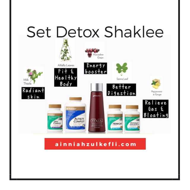 Detox Cara Shaklee, Permulaan Untuk Sihat