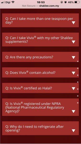 vivix shaklee ada arak