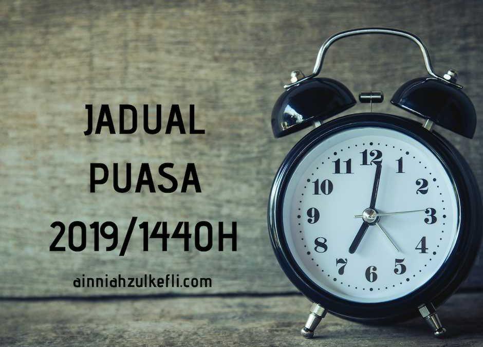 Jadual Puasa 2019 Pulau Pinang, Perak, Kedah
