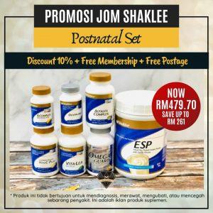 jom shaklee postnatal set