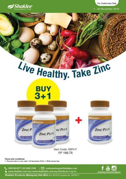 promosi zinc shaklee