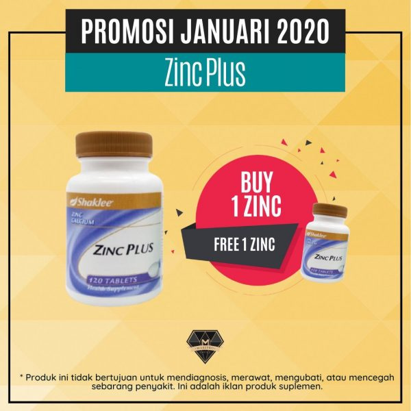 promosi zinc complex shaklee