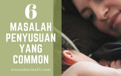 Masalah Penyusuan Susu Ibu Yang Common